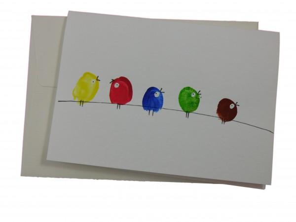 """Karte """"bunte Vögel"""""""