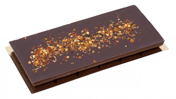 Zartbitterschokolade mit Chilli