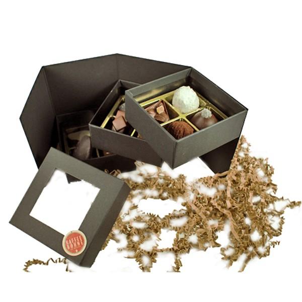 Trüffel / Pralinen in edler 12-er Geschenkbox schwarz
